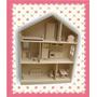Casita De Muñecas Barbie Con Muebles Lista Para Pintar!!