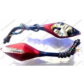 Espelho Retrovisor Moto Pisca Led Honda Cb300 Cb500 Cb650 Pr