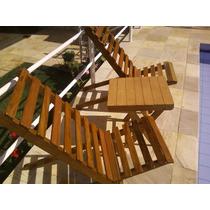 Cadeira De Madeira Para Piscina Praia E Varanda.