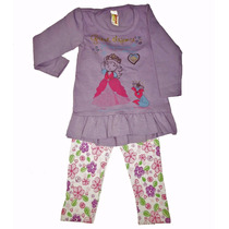 Conjunto Infantil Feminino Elegance Com Calça Legging