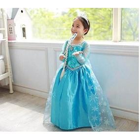 Fantasia Vestido Elsa Frozen Pronta Entrega P/ Criança