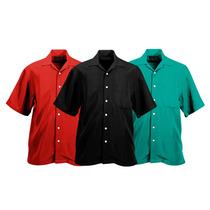 Camisa Tipo Columbia Unicolor Para Bordar