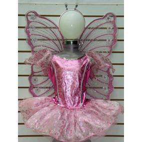 Disfraz Mariposa Rosa Tutu Mallas Alas Diadema Con Antenas