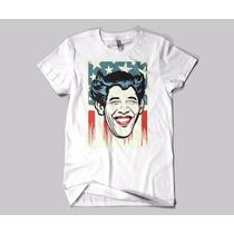 Camiseta Obama Coringa Eua Usa Bandeira Masculino Feminino