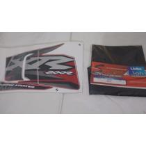 Adesivo Xr 200 2002 Vermelha + Capa Banco