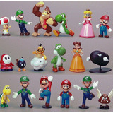 Set 18 Figuras Super Mario Bros