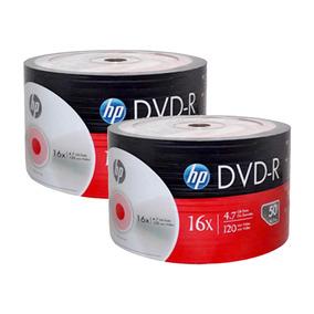 200 Dvd Hp Logo 4.7 Gb 16x Películas Datos