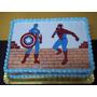Torta Capitan America Varios Decorada Caseras Tomamos Pedido