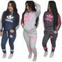 Conjunto Moleton Adidas Feminino Flanelado Inverno Bordado