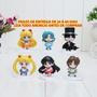 Miniaturas Sailor Moon - Kit C/ 6 Peças - Leia Todo Anúncio