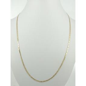 Corrente Masculina Cordão Piastrine 60 Cm Ouro 18k 750
