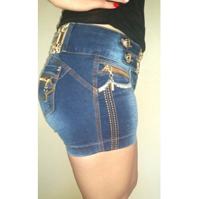 Shorts Jeans Marca Zigma Estilo Pit Bull Com Stras Lindo