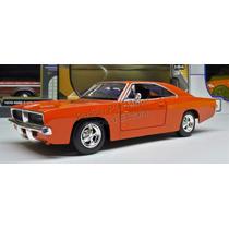 1:24 Dodge Charger Rt 1969 Naranja New Ray C Caja