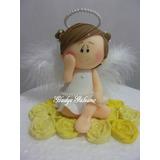 Angelita De Comunion -porcelana Fria