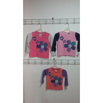 Playera Bebo Beba Manga Larga Estampado Flores Varios Colore