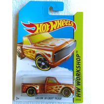 Custom 69 Chevy Pick Up, Hw Workshop, #217 Hot Wheels 2014