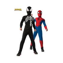 Disfraz De Spiderman Doble Faz Musculos Para Niño Talla S