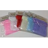 Paquete De 8 Bolsas De Organza Unicolor De 7cm X 10cm