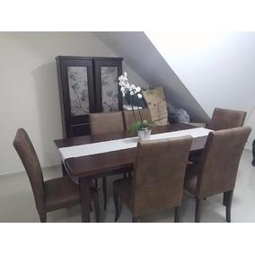 Sala De Jantar Sierra E Clafema Cadeiras, Mesa Cristaleiras