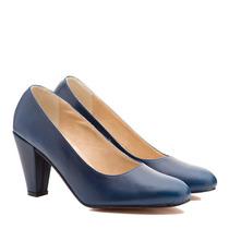 Zapato Cuero Linea Confort Taco Medio Art 2600 Tallon