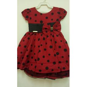 Vestido Fantasia Infantil Minnie E Ladybug Luxo Festas