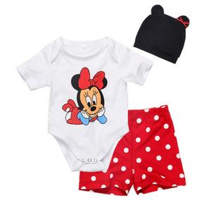 Roupa De Bebê - Conjunto Do Mickey & Minnie