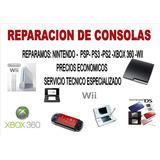Servicio Tecnico Para Ps3, Ps4 , Ps2 Ps1 Xbox Wii Psp Ds