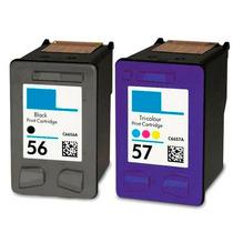 Kit Cartucho 56 57 Impressora Officejet 4100 4200 5500
