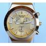 Hermosos Reloj Dorado Plateado De Acero Para Damas