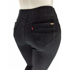 Calça Jeans Plus Size Feminina Cós Alto Legging Cambos