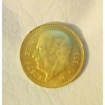Moneda 10 Pesos De Oro Hidalgo 1959