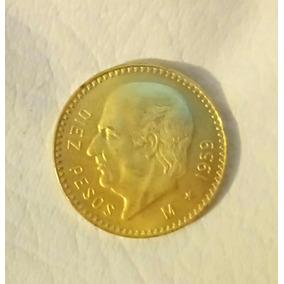 Centenario Moneda 10 Pesos De Oro Hidalgo 1959