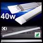Luminária Tubular De Sobrepor Led Slim 40w Branco Frio 120cm