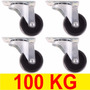 Roda Para Vasos Giratória Rodinhas Kit 4 Rodízio 100kg