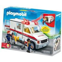 Playmobil Ambulancia Con Luz Y Sonido Art. 5952 + 3 Figuras