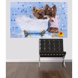 Adesivo Parede Pet Shop Cachorro Banho Animais Banheira