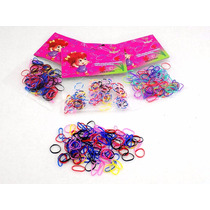 1000 Ligas Para Cabello Colores Rainbow Loom En Paquetes