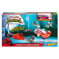 Rampa Hot Wheels Marvel Spideys Speed Drop Track Set