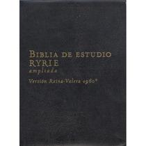 Biblia De Estudio Ryrie Ampliada Piel Negra O Azul S/indice