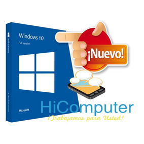 Windows 10 Pro 32/64bits Retail Licencia 5 Pc Original