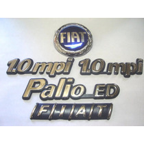 Kit Emblemas Palio Ed + 2x 1.0 Mpi + Capo E Mala 96 97 98 99
