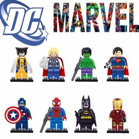 Lego Wolverine, Homem De Ferro, Homem Aranha - Compatível
