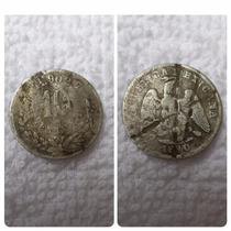 Moneda 10 Centavos 1890 Mo Plata