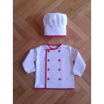 Chaqueta Y Gorro De Cocinero Infantil