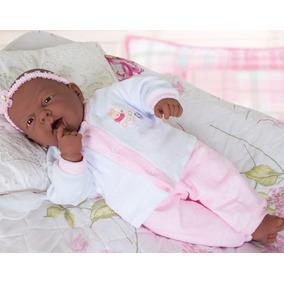 Boneca Ninos Negra Parece Bebê De Verdade