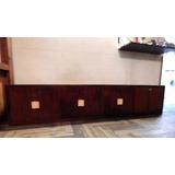 Mueble Bajo Antiguo 4 Puertas Ideal Lcd /música P/ Reciclar