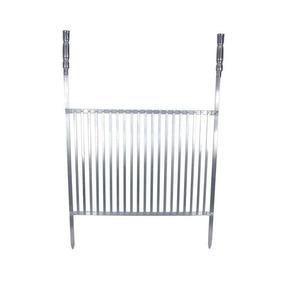 Grelha Em Alumínio Para Churrasco 60x50 Cm.