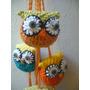 Búho Lechuza Colgante Tejido Crochet Regalo Navidad Suerte