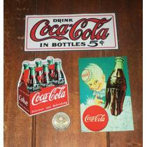 Pack De 3 Imanes De Coca-cola Retro Vintage