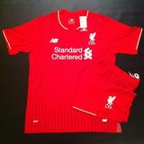 Camiseta De Liverpool Con Short,villa Gesell